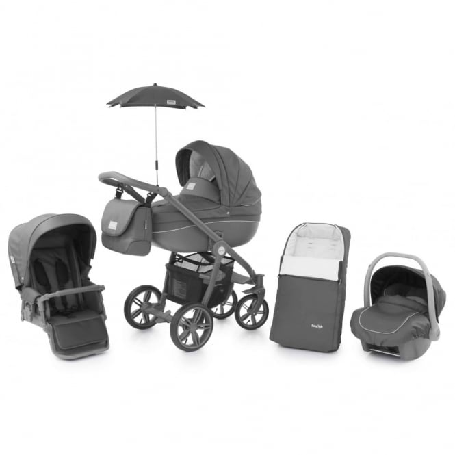 BabyStyle Prestige 2 Pram Shark - Active Grey Chassis