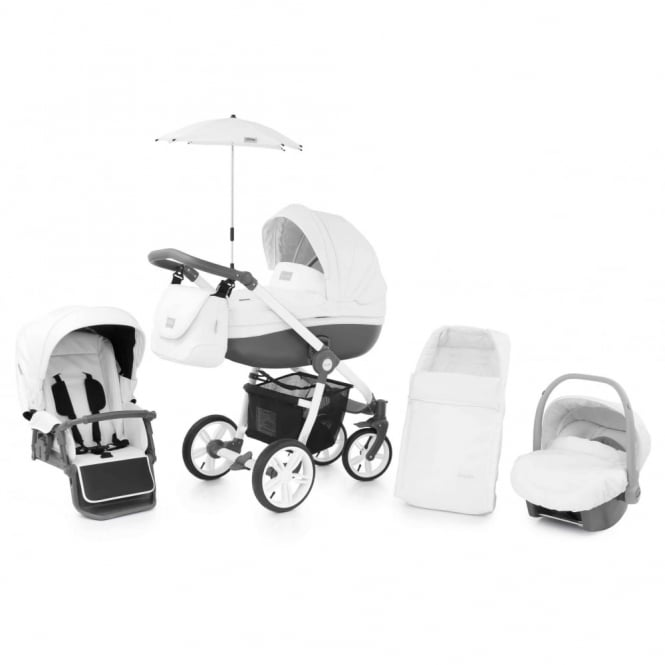 BabyStyle Prestige 2 Pram Thunder Cloud - Active White Chassis