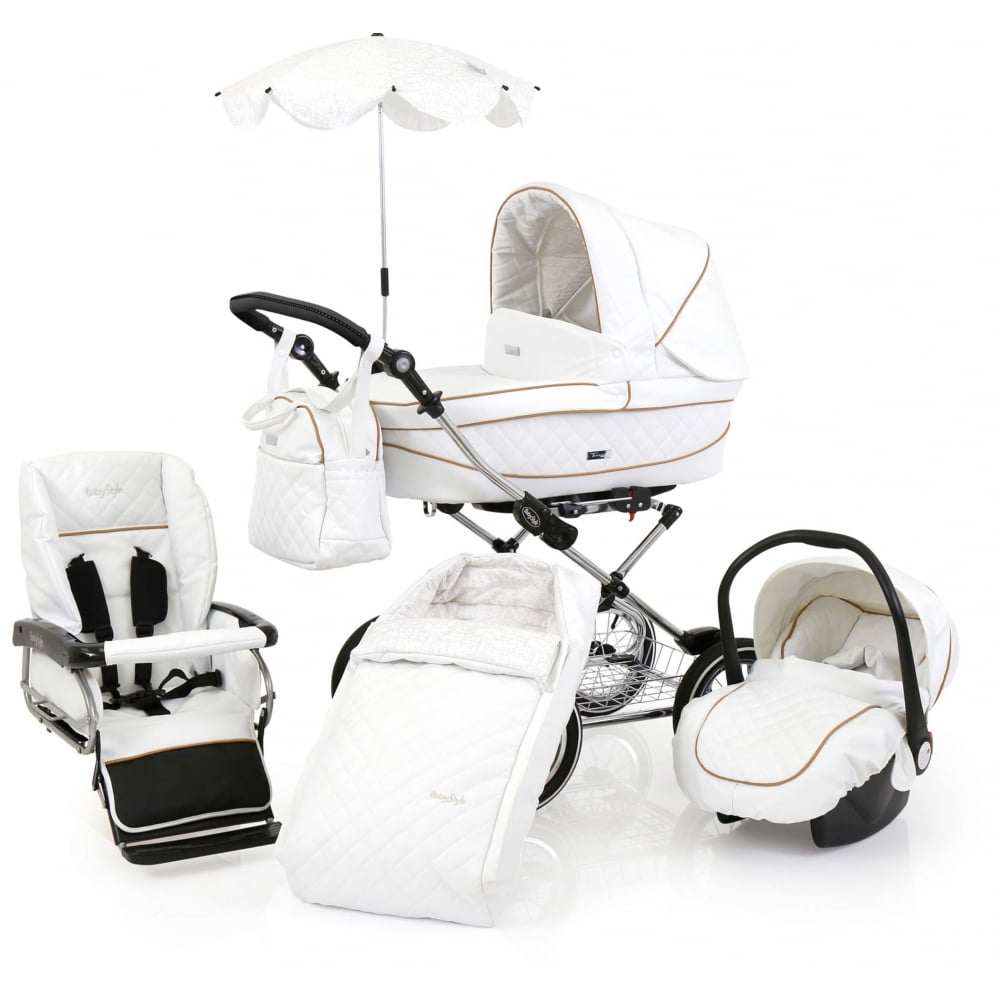 Babystyle Prestige Pram Classic White Complete Package