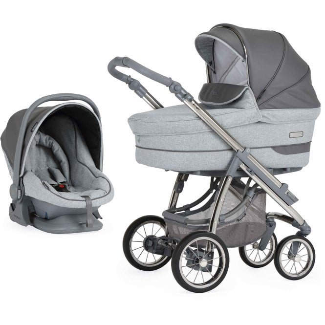 Bebecar Pack Ip-Op Classic XL Actual With Car Seat - Slate Grey