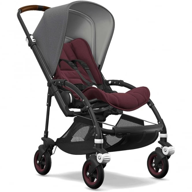 Bugaboo Bee5 Stroller - Black Chassis - Grey Melange Canopy