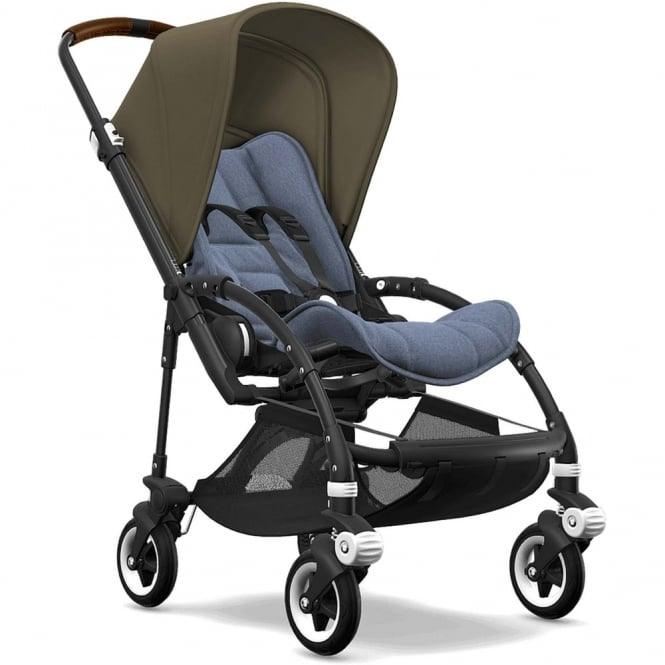 Bugaboo Bee5 Stroller - Black Chassis - Olive Green Canopy