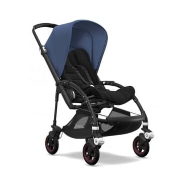 Bugaboo Bee5 Stroller - Black Chassis - Sky Blue Canopy
