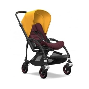 Bugaboo Bee5 Stroller - Black Chassis - Sunrise Yellow Canopy