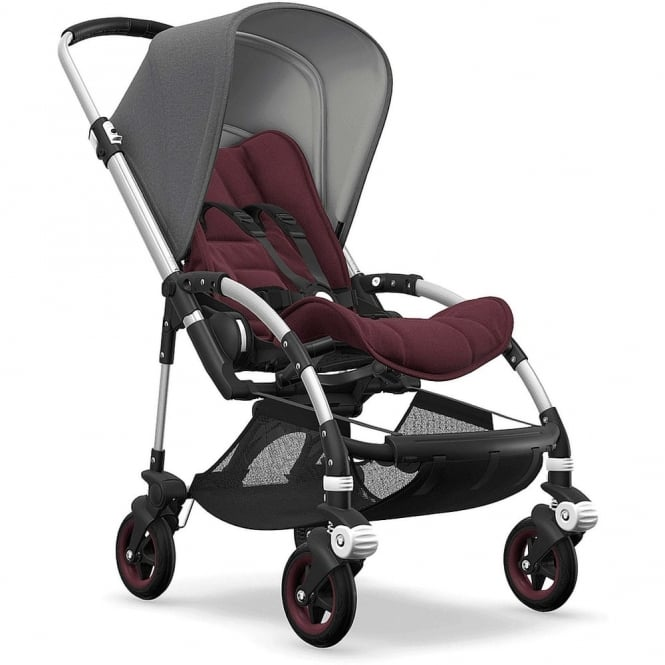 Bugaboo Bee5 Stroller - Silver Chassis - Grey Melange Canopy