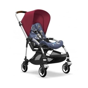 Bugaboo Bee5 Stroller - Silver Chassis - Ruby Red Canopy