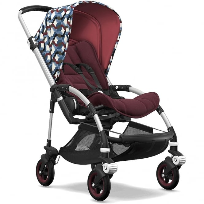 Bugaboo Bee5 Stroller - Silver Chassis - Waves Canopy