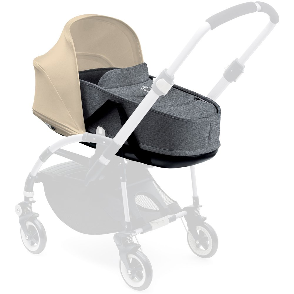 Bugaboo Bee 3 Carrycot Grey Melange Complete with Canopy  sc 1 st  WH Watts u0026 Son Ltd & Bee 3 Carrycot Grey Melange Complete with Canopy