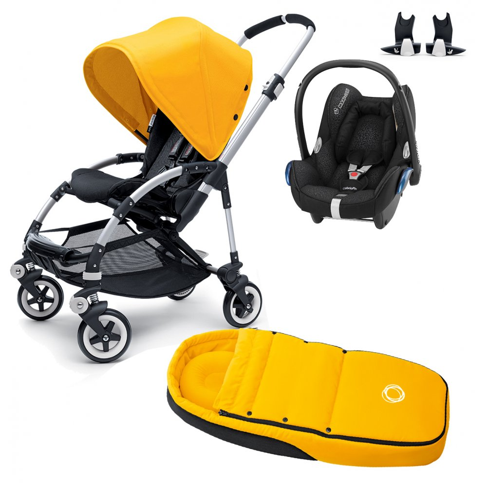 Bugaboo Bee Cabriofix Car Seat Cocoon And Adapters Package
