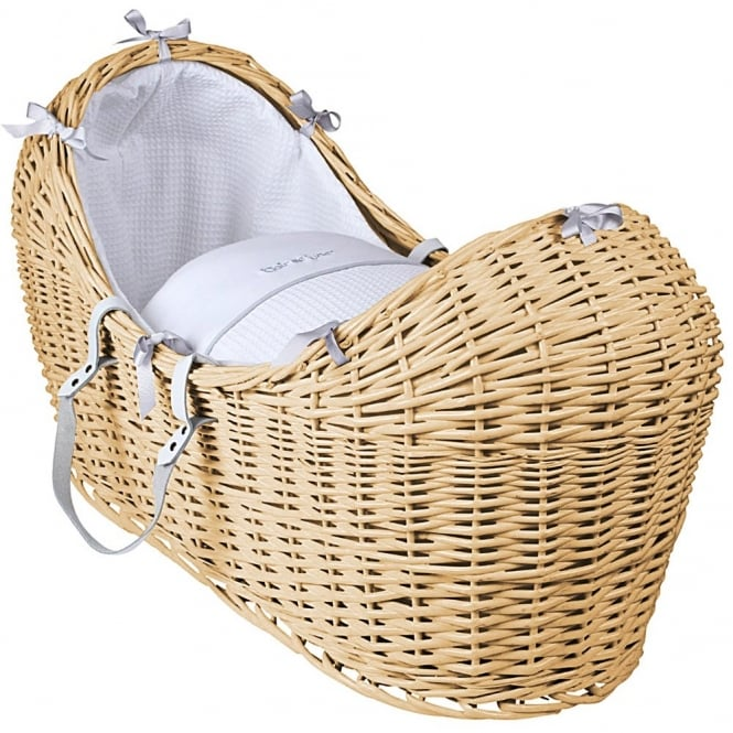 Clair de lune Silver Lining Noah Pod Natural Wicker Basket