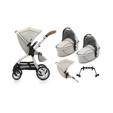 Egg Tandem Stroller with 2 Carrycots Prosecco