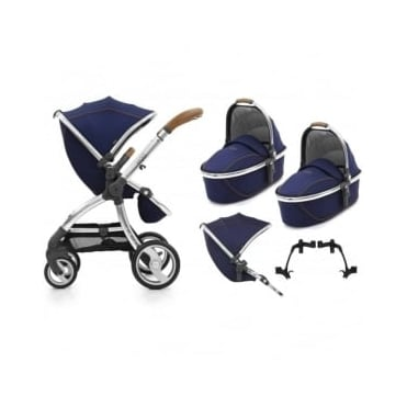Egg Tandem Stroller with 2 Carrycots Regal Navy