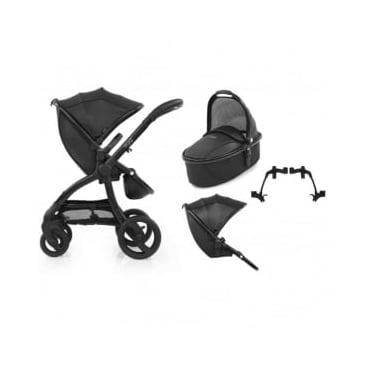 Egg Tandem Stroller with Carrycot Jurassic Black Special Edition