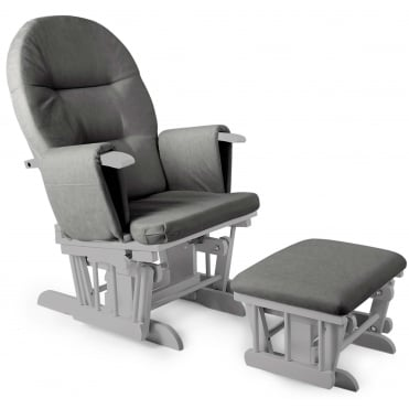 Little House Glider Chair & Footstool - Grey