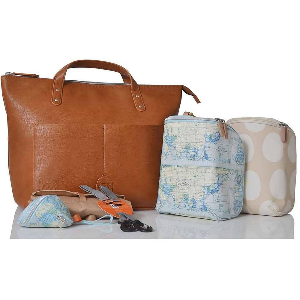 060935d0e86c7 Pacapod Saunton Tan Changing Bag Available From W H Watts Pram Centre