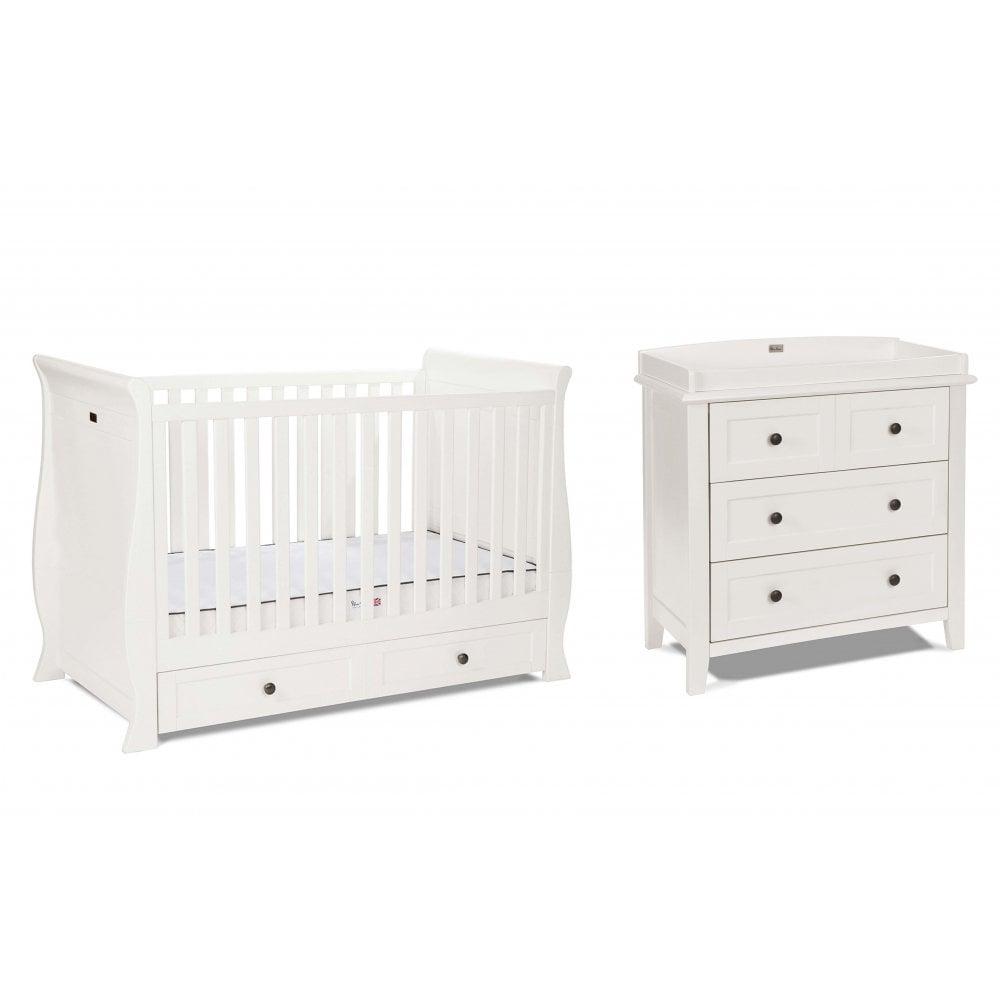 Silver Cross Nostalgia 2 Piece Aintique Ivory Nursery Furniture Set