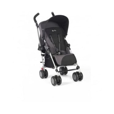 Silver Cross Pop 2 Pushchair Black Free footmuff and travel bag