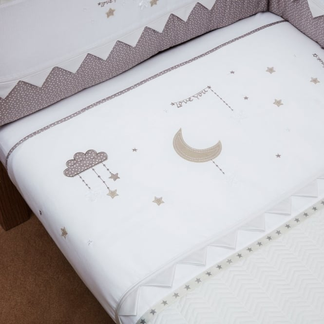 Silver Cross To The Moon And Back Coverlet