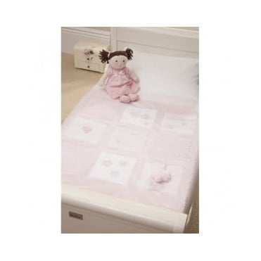 Silver Cross Vintage Pink Cot Bed Quilt