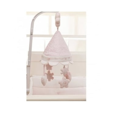 Silver Cross Vintage Pink Musical Cot Mobile