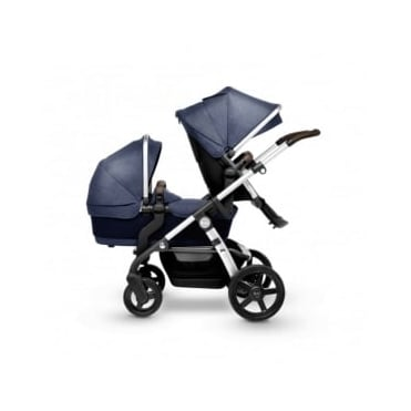 Silver Cross Wave Duo Pram Midnight Blue