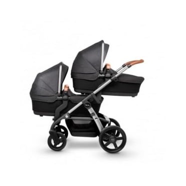 Silver Cross Wave Twin Pram Granite