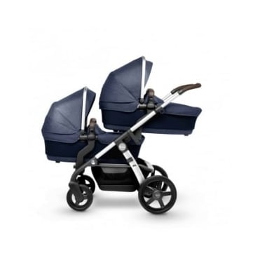 Silver Cross Wave Twin Pram Midnight Blue